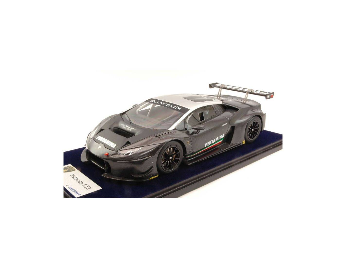 looksmart ls1805f lamborghini huracan gt3 carbon with silver roof 1 18 modellino die cast models. Black Bedroom Furniture Sets. Home Design Ideas