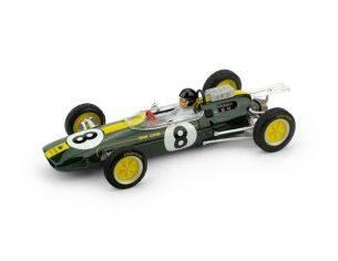 Brumm BM0332CH LOTUS 25 J.CLARK 1963 N.8 WINNER ITALIA GP WORLD CHAMPION + PILOTA 1:43 Modellino