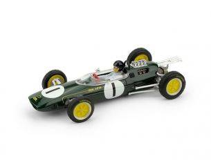 Brumm BM0331CH LOTUS 25 J.CLARK 1963 N.1 WINNER BELGIO GP WORLD CHAMPION + PILOTA 1:43 Modellino