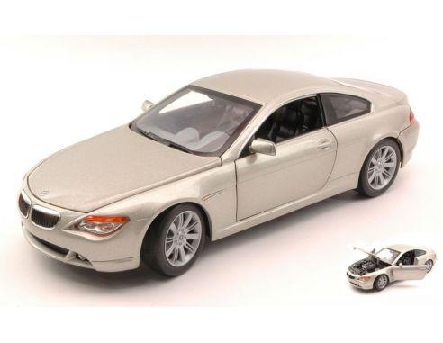 Hot Wheels HW02811 BMW 645 CI 2004 LIGHT SILVERGOLD 1:18 Modellino