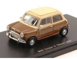Schuco SH8985 MINI COOPER S 1967 STEVE MC QUEEN PERSONAL CAR BROWN/CREAM 1:43 Modellino