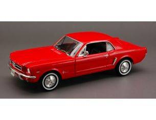 Welly WE2451R FORD MUSTANG COUPE' 1964 RED 1:24 Modellino