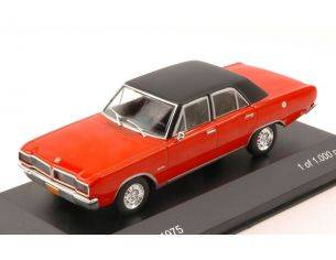 White Box WB148 DODGE CHARGER R/T 1975 RED W/BLACK ROOF 1:43 Modellino