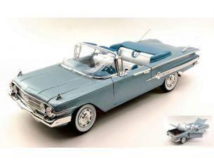 Welly WE9864 CHEVROLET IMPALA 1960 METALLIC LIGHT BLUE 1:18 Modellino