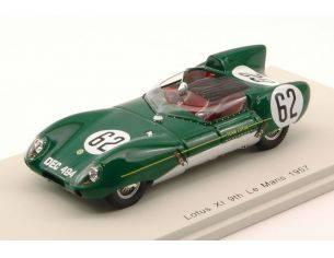 Spark Model S4398 LOTUS XI N.62 9th LM 1957 H.MCKAY FRAZER-J.CHAMBERLAIN 1:43 Modellino
