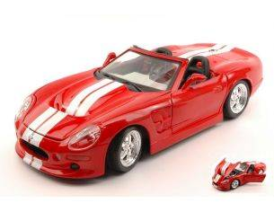Maisto MI31142R SHELBY SERIES ONE 1998 RED W/WHITE STRIPES 1:18 Modellino