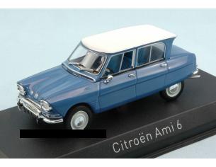 Norev NV153505 CITROEN AMI 6 1967 PASTEL BLUE W/WHITE ROOF 1:43 Modellino