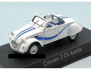 Norev NV150093 CITROEN 2 CV CABRIOLET AZELLE 1990 WHITE W/BLUE DECO 1:43 Modellino