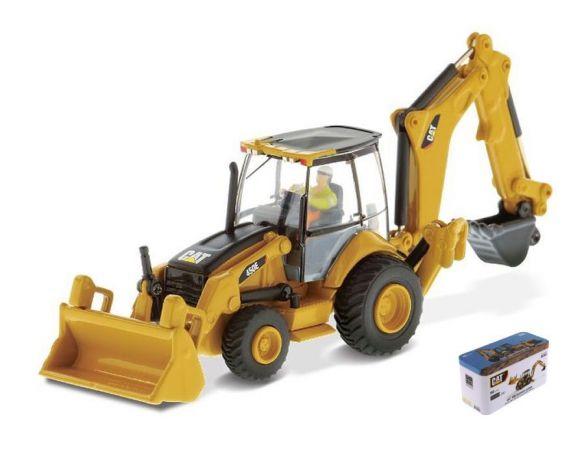 Diecast Master DM85263 CAT 450E BACKHOE 1:87 Modellino