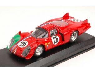 Best Model BT9632 ALFA ROMEO 33.2 LM N.26 DNF 1000 KM MONZA 1968 G.GOSSELIN-S.TROSCH 1:43 Modellino