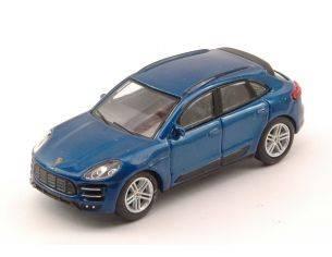 Schuco SH20137 PORSCHE MACAN TURBO BLUE 1:64 Modellino