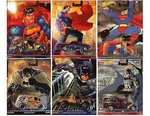 Hot Wheels HWDLB45 POP CULTURE BATMAN & SUPERMAN Pz.6 1:64 Modellino