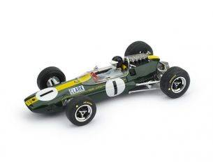 Brumm BM0592CH LOTUS 33 J.CLARK 1965 N.1 WINNER GERMANIA GP + PILOTA 1:43 Modellino