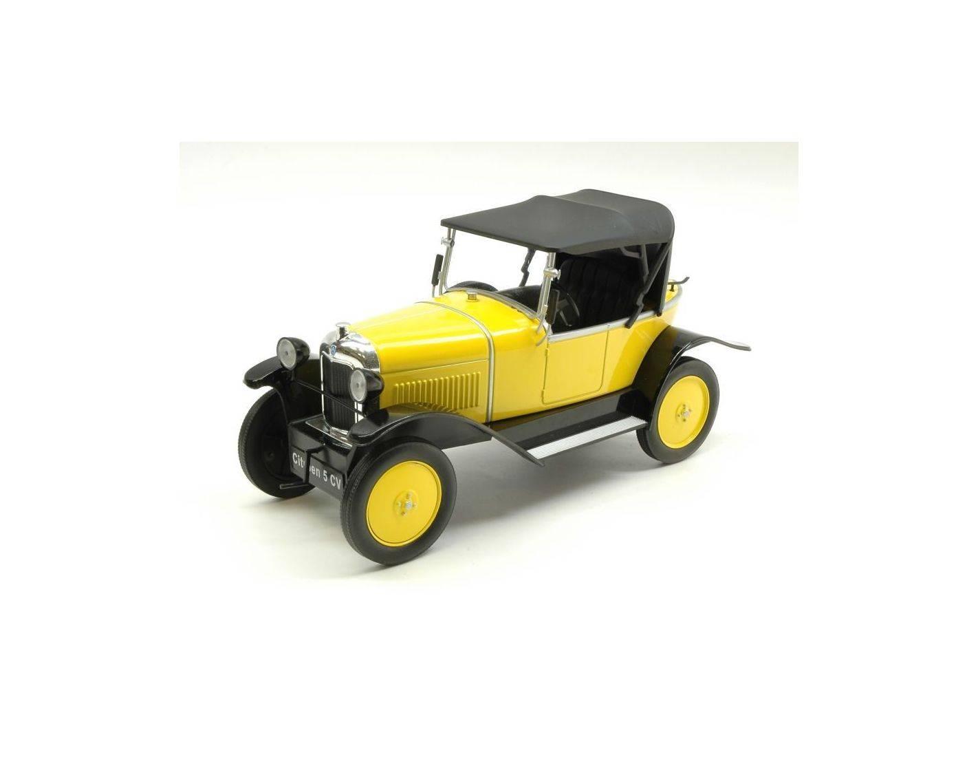 Mac due mcg18052 citroen 5 cv yellow black 1 18 modellino for Mac due the box