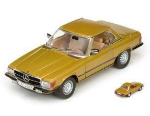 SunStar SS4609 MERCEDES 350 SL HARD TOP COUPE' 1977 GOLD 1:18 Modellino