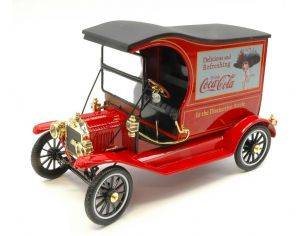 Motorcity Classics MCC449804 FORD MODEL T CARGO VAN 1917 COCA COLA 1:18 Modellino