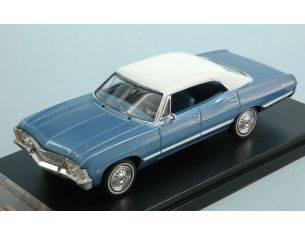 Protar PRXD559 CHEVROLET IMPALA SPORT SEDAN 1967 METALLIC BLUE W/WHITE ROOF 1:43 Modellino