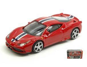 BBURAGO BU36025 FERRARI 458 SPECIALE RED 1:43 Modellino