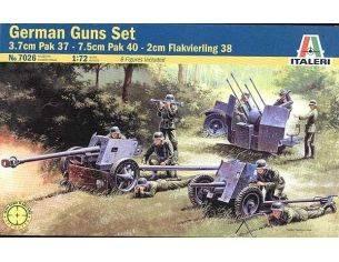 Italeri IT7026 GUNS SET PAK 35 - PAK 40 - FLACK 38 KIT 1:72 Modellino