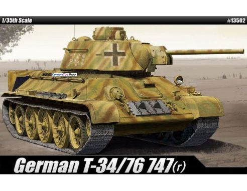Accademy ACD13502 T-34 747 (R) GERMAN VERSION KIT 1:35 Modellino