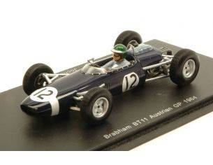 Spark Model S4335 BRABHAM BT11 J.RINDT 1964 N.12 RETIRED AUSTRIAN GP 1:43 Modellino