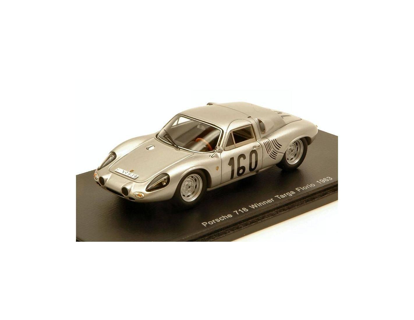 Spark Model S43tf63 Porsche 718 Gtr N 160 Winner Targa Florio 1963 J Bonnier C M Abate 1 43
