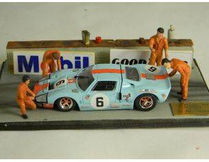 Microworld MWBE06 DIORAMA FORD GT 40 WINNER LM 1969 1:43 Modellino