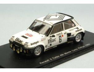 Spark Model S3861 RENAULT 5 TURBO N.6 4th MONTE CARLO 1984 J.L.THERIER-M.VIAL 1:43 Modellino