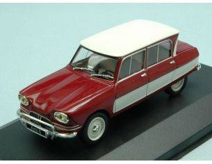 White Box WB155 CITROEN AMI 6 1961 DARK RED/WHITE 1:43 Modellino