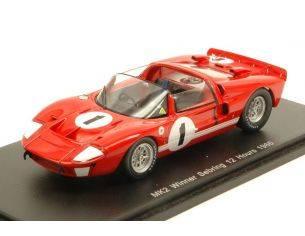 Spark Model S43SE66 FORD MK2 N.1 WINNER 12H SEBRING 1966 K.MILES-L.RUBY 1:43 Modellino
