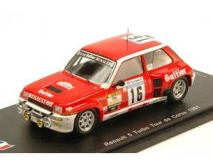 Ixo model SF100 RENAULT 5 TURBO N.16 RETIRED TOUR DE CORSE 1981 B.SABY-D.LE SAUX 1:43 Modellino