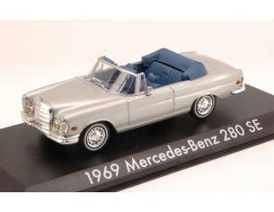 Greenlight GREEN86461 MERCEDES 280 SE CABRIO 1969 SILVER 1:43 Modellino