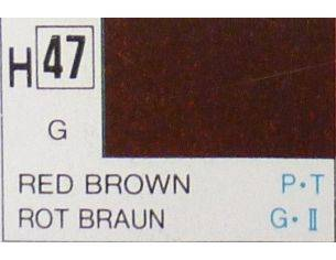 Gunze GU0047 RED BROWN GLOSS ml 10 Pz.6 Modellino
