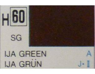 Gunze GU0060 IJA GREEN SEMI-GLOSS  ml 10 Pz.6 Modellino