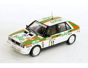 """Ixo model IXO SCR 004 LANCIA Delta HF 4WD """"Totip"""" Rally Sanermo'87 #11, A.Fiorio / L.Pirollo 1:43 Modellino"""