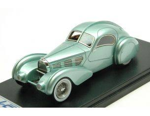 Looksmart LS442 BUGATTI TYP 57S COMPETITION COUPE' AEROLITHE 1935 MET.LIGHT GREEN 1:43 Modellino