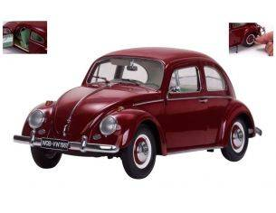 SunStar SS5210 VW BEETLE SALOON 1961 RUBY-RED 1:12 Modellino