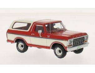 Neo Scale Models NEO46910 FORD BRONCO 1979 RED/WHITE 1:43 Modellino