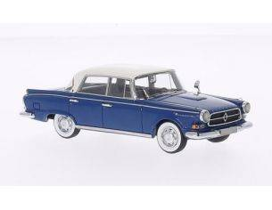 Neo Scale Models NEO49532 BORGWARD P100 BLUE/WHITE 1:43 Modellino
