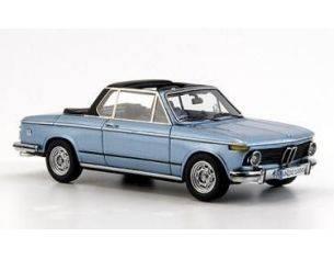 Neo 43283 BMW 2002 E10 BAUR CABRIO BLU METALLI Modellino