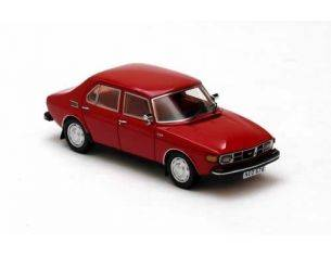 Neo 43676 SAAB 99 4-DOOR RED 1971 1/43 Modellino