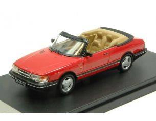 Protar PRXD377 SAAB 900 TURBO CABRIOLET 1991 RED 1:43 Modellino