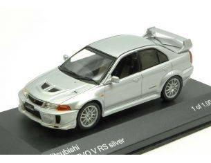 White Box WB214 MITSUBISHI LANCER EVO V RS 1998 SILVER 1:43 Modellino