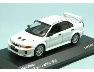 White Box WB216 MITSUBISHI LANCER EVO V 1998 WHITE 1:43 Modellino