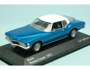 White Box WB199 BUICK RIVIERA COUPE' 1972 METALLIC BLUE/WHITE 1:43 Modellino