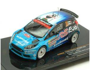 Ixo model RAM626 FORD FIESTA RS WRC N.35 8th MONTE CARLO 2016 E.EVANS-C.PARRY 1:43 Modellino