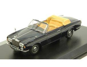 Oxford OXF43RRC001 ROLLS ROYCE CORNICHE CONVERTIBLE (OPEN) 1971 DARK BLUE 1:43 Modellino