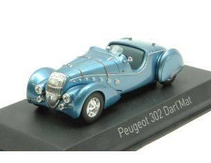 Norev NV473206 PEUGEOT 302 DARL'MAT ROADSTER 1937 BLUE METALLIC 1:43 Modellino