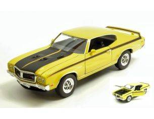 Welly WE4249YBK BUICK GSX 1970 YELLOW/BLACK 1:24 Modellino