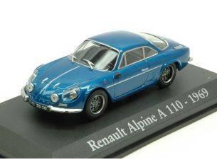 Modellino EDI009A RENAULT ALPINE A110 1969 METALLIC BLUE 1:43 Modellino